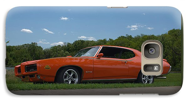 Galaxy Case featuring the photograph 1969 Pontiac Gto Judge by Tim McCullough