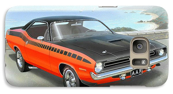 1970 Barracuda Aar  Cuda Classic Muscle Car Galaxy S7 Case by John Samsen