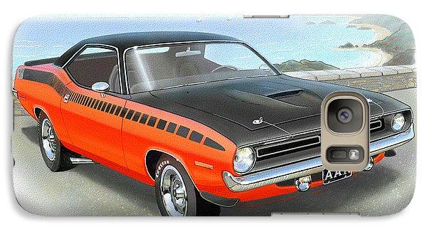 1970 Barracuda Aar  Cuda Classic Muscle Car Galaxy Case by John Samsen