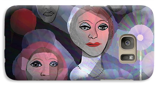 Galaxy Case featuring the digital art 1970 - A Ceremony by Irmgard Schoendorf Welch