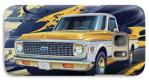 Truck Galaxy S7 Case - 1971 Chevrolet C10 Cheyenne Fleetside 2wd Pickup by Garth Glazier