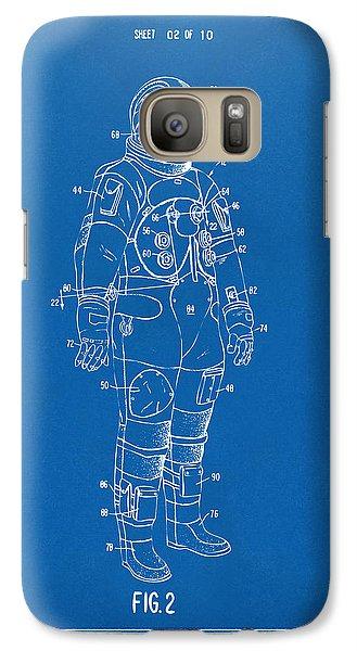 1973 Astronaut Space Suit Patent Artwork - Blueprint Galaxy S7 Case