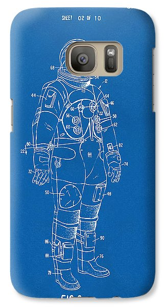 1973 Astronaut Space Suit Patent Artwork - Blueprint Galaxy S7 Case by Nikki Marie Smith