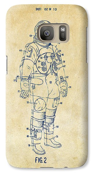 1973 Astronaut Space Suit Patent Artwork - Vintage Galaxy S7 Case by Nikki Marie Smith