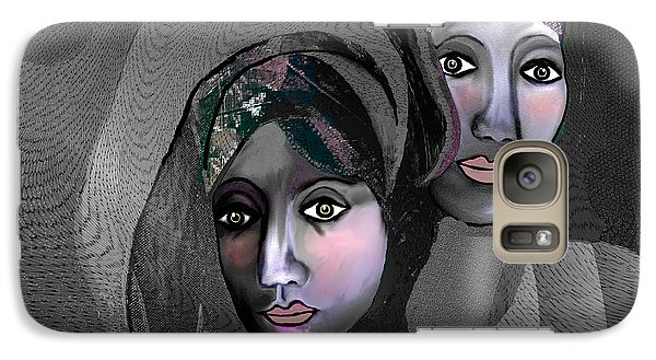 Galaxy Case featuring the digital art 1973 - Exotic 2017 by Irmgard Schoendorf Welch