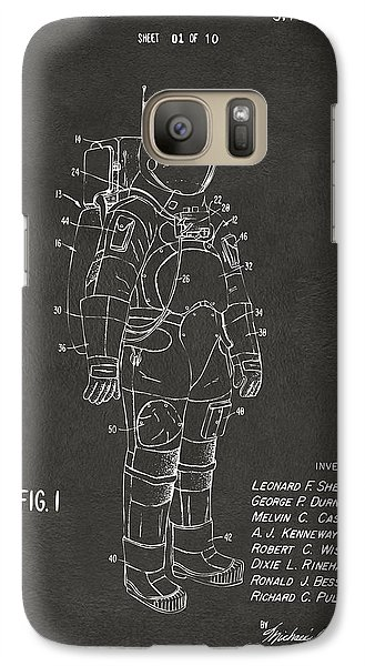 Astronaut Galaxy S7 Case - 1973 Space Suit Patent Inventors Artwork - Gray by Nikki Marie Smith