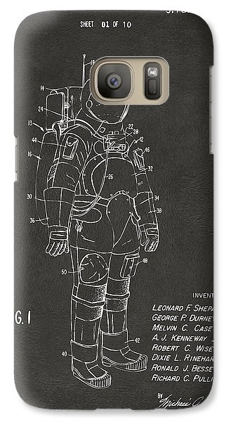 1973 Space Suit Patent Inventors Artwork - Gray Galaxy Case by Nikki Marie Smith