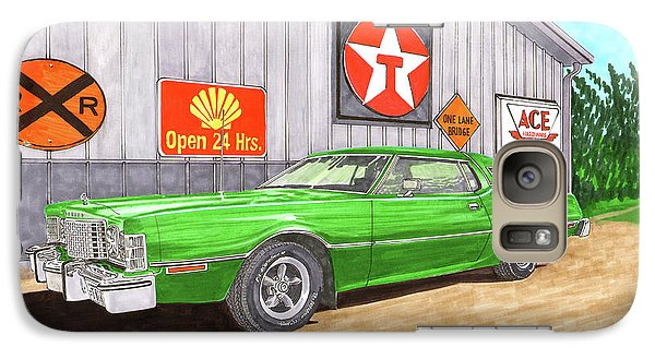 Galaxy Case featuring the painting 1976 Ford Thunderbird by Jack Pumphrey