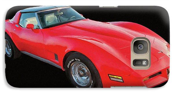 1977 Chevy Corvette T Tops Digital Oil Galaxy S7 Case