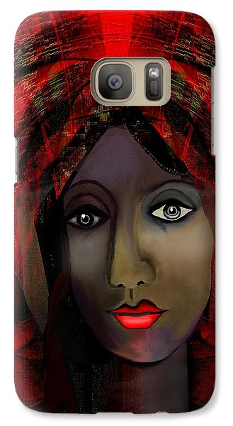 Galaxy Case featuring the digital art 1980 -  Leading Into Temptation 2017 by Irmgard Schoendorf Welch