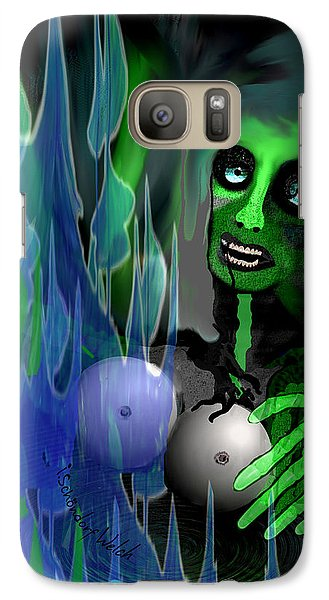 Galaxy Case featuring the digital art 1981 - But My New Silicon Breasts Will Last Forever 2017 by Irmgard Schoendorf Welch