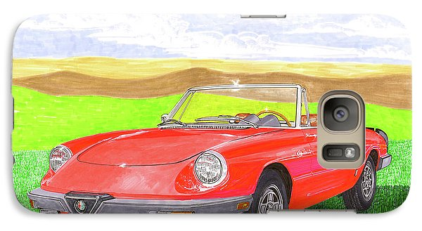 Galaxy Case featuring the painting 1983 Alfa Romero Spider Veloce by Jack Pumphrey