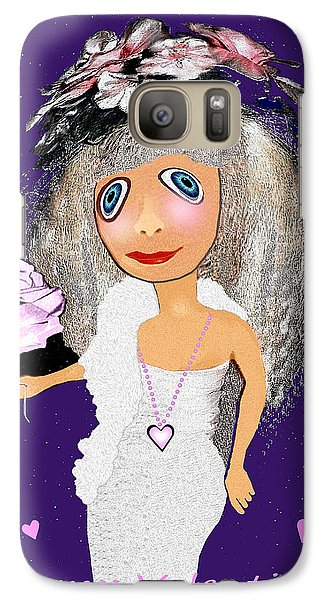 Galaxy Case featuring the digital art 1989 -  I Want To Be Loved By You 2017 by Irmgard Schoendorf Welch