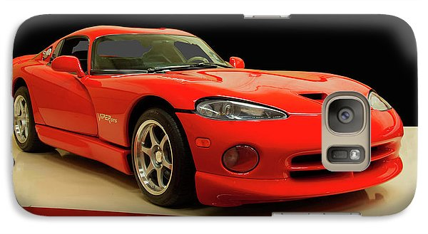 Galaxy Case featuring the digital art 1997 Dodge Viper Gts Red by Chris Flees