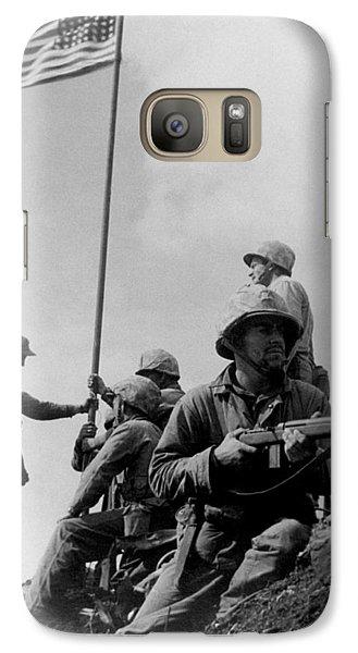 1st Flag Raising On Iwo Jima  Galaxy S7 Case