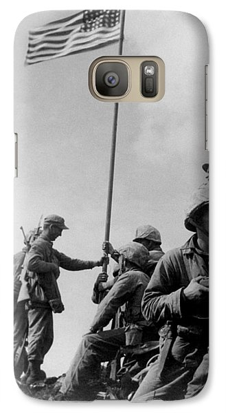 Mount Rushmore Galaxy S7 Case - 1st Flag Raising On Iwo Jima  by War Is Hell Store