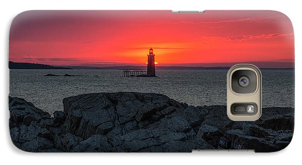 Galaxy Case featuring the photograph 1st Light by Paul Noble