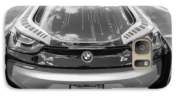 Galaxy Case featuring the photograph 2015 Bmw I8 Hybrid Sports Car Bw by Rich Franco