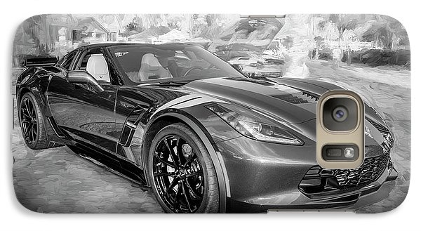 Galaxy Case featuring the photograph 2017 Chevrolet Corvette Gran Sport Bw by Rich Franco