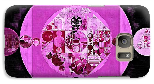 Galaxy Case featuring the digital art Abstract Painting - Lavender Magenta by Vitaliy Gladkiy