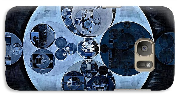 Galaxy Case featuring the digital art Abstract Painting - Polo Blue by Vitaliy Gladkiy