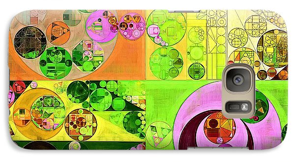 Galaxy Case featuring the digital art Abstract Painting - Turtle Green by Vitaliy Gladkiy