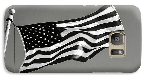 American Flag Waving In The Wind Galaxy Case by Brandon Bourdages