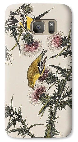 American Goldfinch Galaxy S7 Case by John James Audubon
