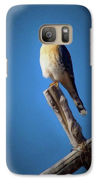 Galaxy Case featuring the digital art American Kestrel by Ernie Echols