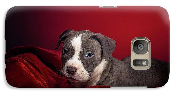 American Pitbull Puppy Galaxy S7 Case