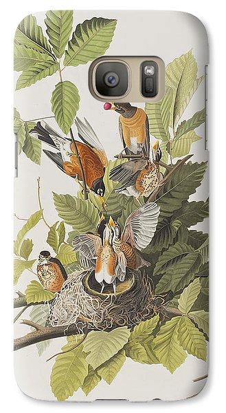 American Robin Galaxy S7 Case by John James Audubon