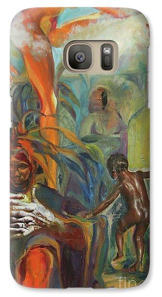 Galaxy Case featuring the mixed media Ancestor Dance by Daun Soden-Greene