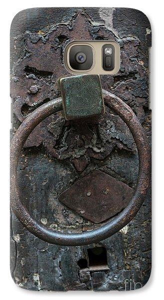 Galaxy Case featuring the photograph Antique Door Knocker by Elena Elisseeva