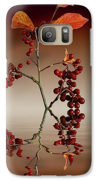 Galaxy Case featuring the photograph Autumn Leafs And Red Berries by David French