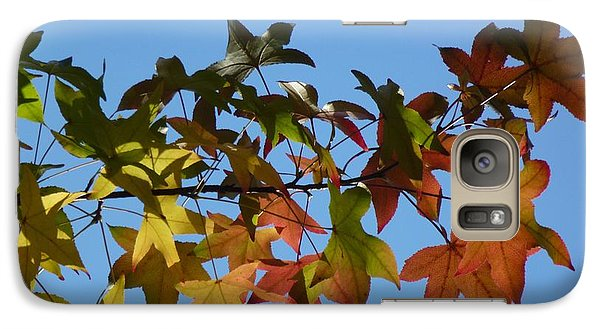 Galaxy Case featuring the photograph Autumn Leaves by Jean Bernard Roussilhe