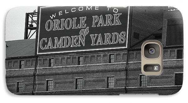 Oriole Galaxy S7 Case - Baltimore Orioles Park At Camden Yards Bw by Frank Romeo