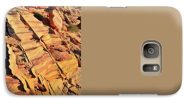 Galaxy Case featuring the photograph Bands Of Color In Valley Of Fire by Ray Mathis