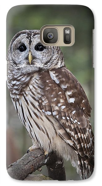 Galaxy Case featuring the photograph Barred Owl by Tyson and Kathy Smith