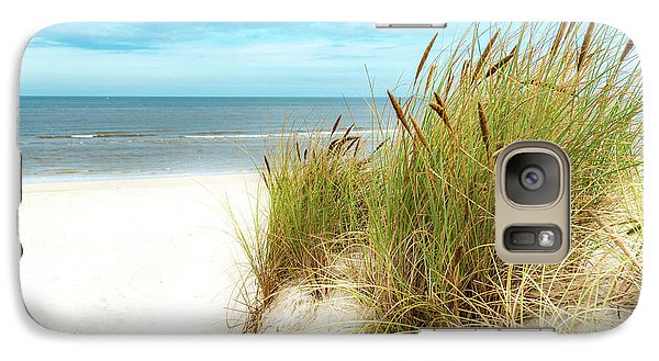 Galaxy Case featuring the photograph Beach Grass by Hannes Cmarits