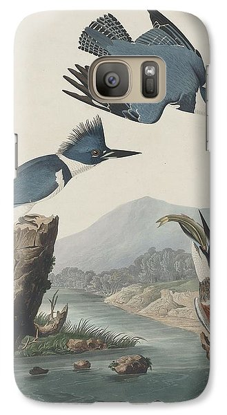 Belted Kingfisher Galaxy Case by Anton Oreshkin