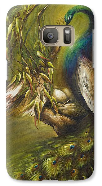 Galaxy Case featuring the painting Birds Of A Feather by Dina Dargo
