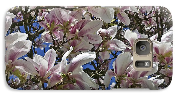 Galaxy Case featuring the photograph Blossom Magnolia White Spring Flowers Photography by Artecco Fine Art Photography