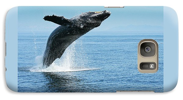 Breaching Humpback Whales Happy-1 Galaxy S7 Case