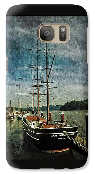 Galaxy Case featuring the photograph Cape Foulweather Tall Ship by Thom Zehrfeld