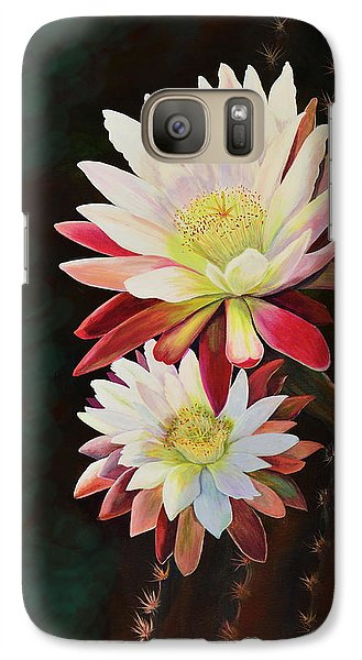 Galaxy Case featuring the painting Cereus Business by Marilyn Smith