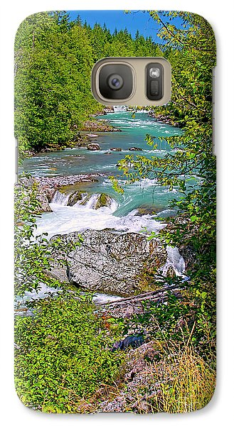 Galaxy Case featuring the photograph Cheakamus River by Sharon Talson