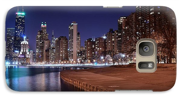 Soldier Field Galaxy S7 Case - Chicago From The North by Frozen in Time Fine Art Photography