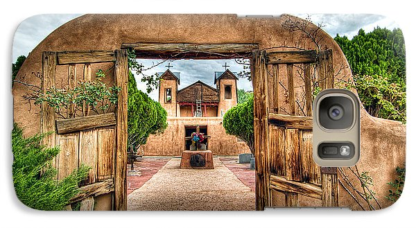 Galaxy Case featuring the photograph Chimayo Church by Anna Rumiantseva
