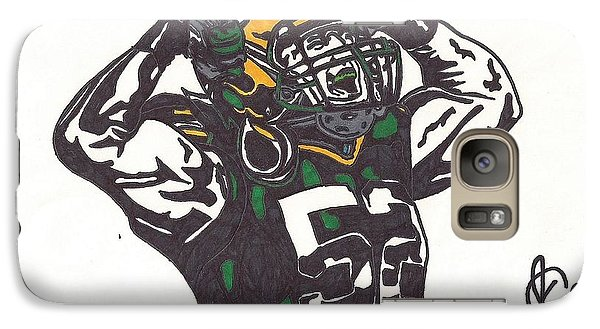 Galaxy Case featuring the drawing Clay Matthews 2 by Jeremiah Colley