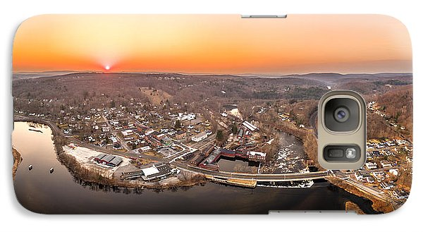 Galaxy Case featuring the photograph Colinsville, Connecticut Sunrise Panorama by Petr Hejl